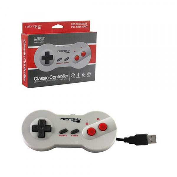 Retrolink NES Classic Controller For PC And MAC (Dogbone Edition