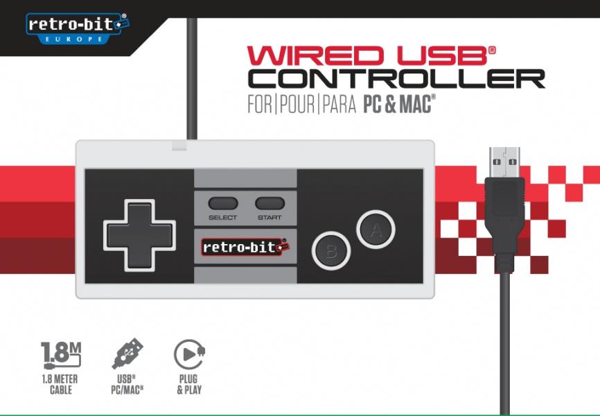 Retro-Bit NES Wired USB Controller For PC And MAC Retro-Bit