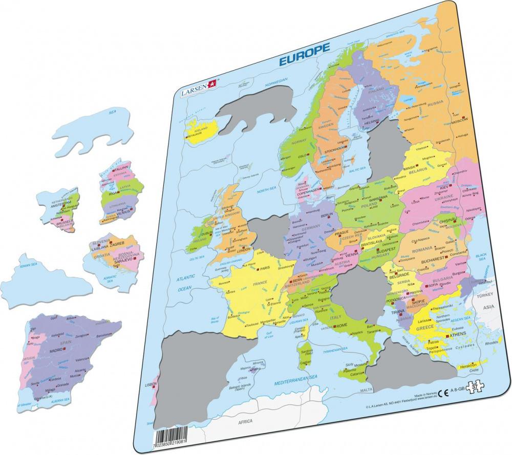 Egmont Kart Europa Platepusle 37 Brikker Www Ronnys No
