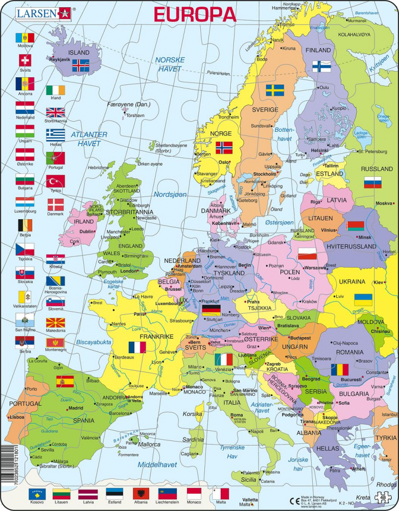Europa kart spill