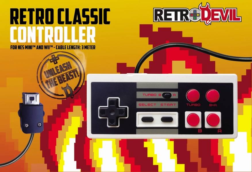 RetroDevil NES Mini Controller (3 Meter Cable) RetroDevil